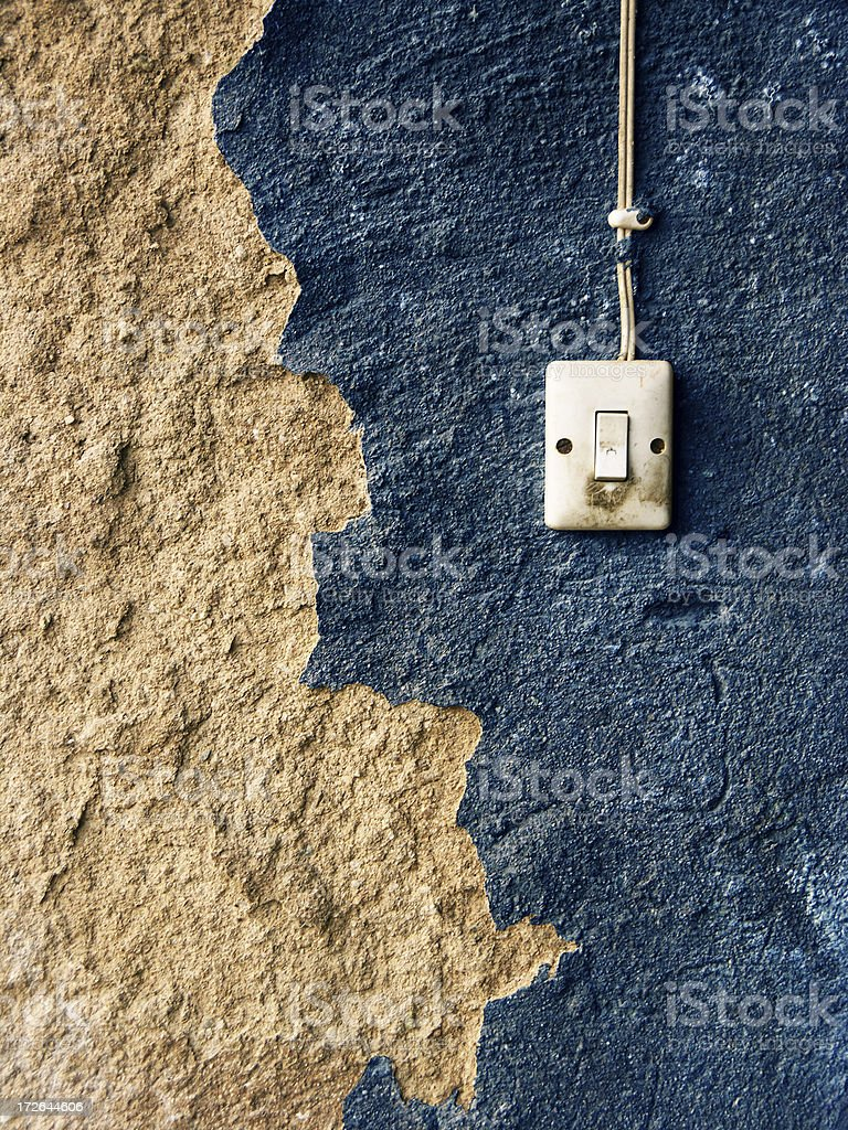 switch on an old wall royalty-free stock photo