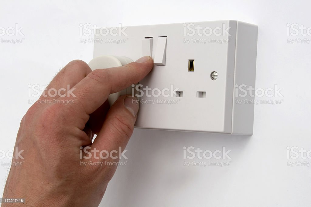 Switch On Electricity - British Plug royalty-free stock photo