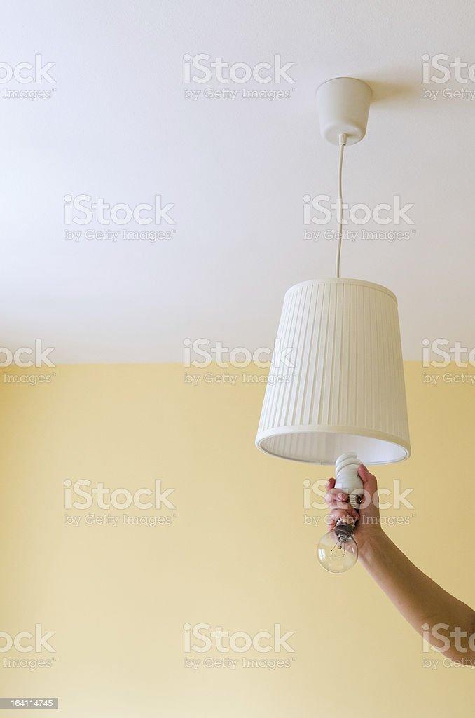 Switch on energy saving royalty-free stock photo