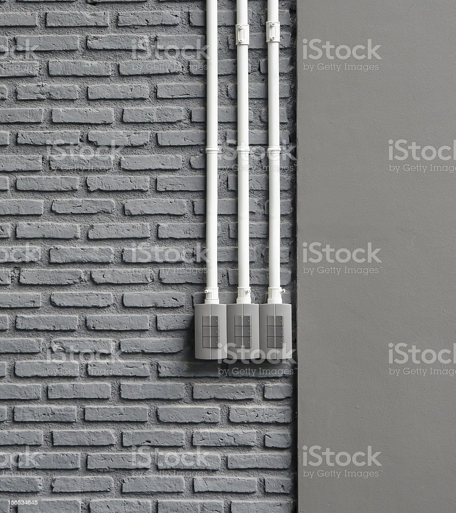 Switch on the wall royalty-free stock photo