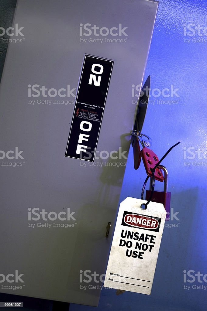 Switch Taged Out stock photo