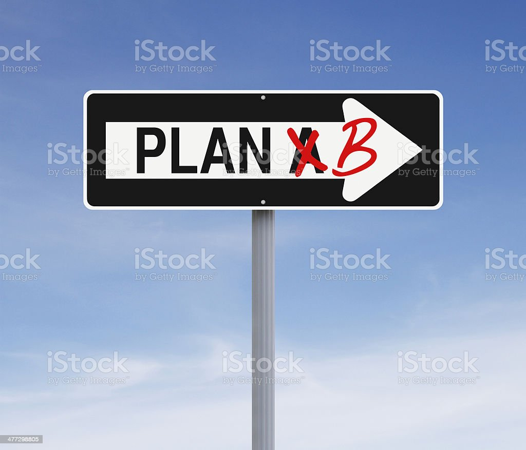 Switch to Plan B stock photo