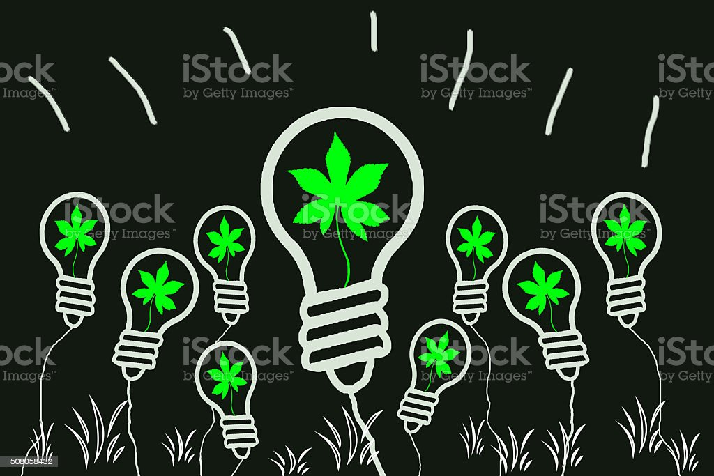 Switch to renewable sources of energy stock photo