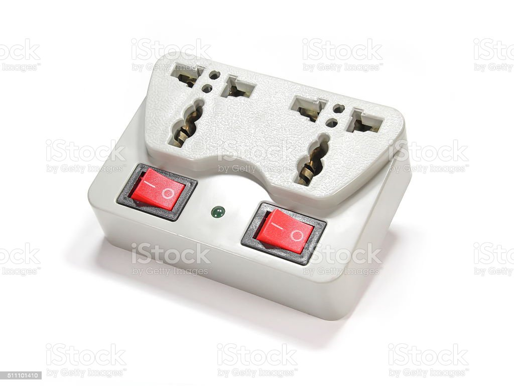 Switchable Electric Socket stock photo