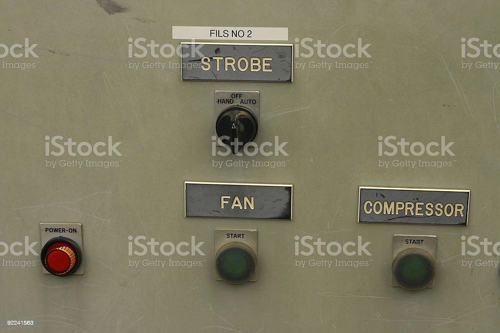Switched on Grey stock photo