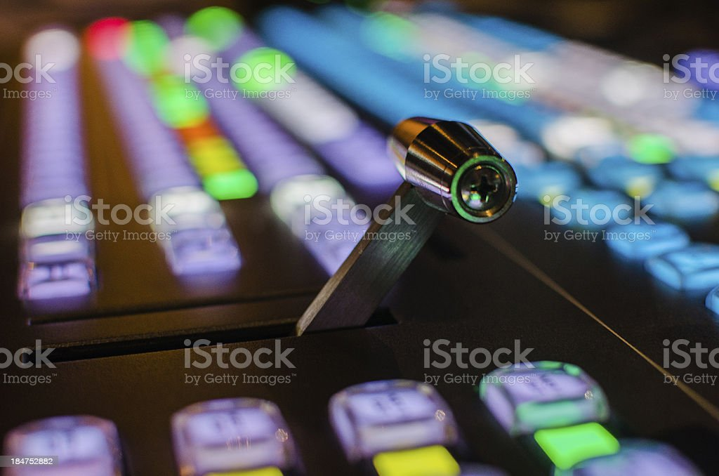 Switcher console for live multi-cam production stock photo