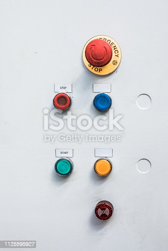 istock Switching button control panel 1125595927
