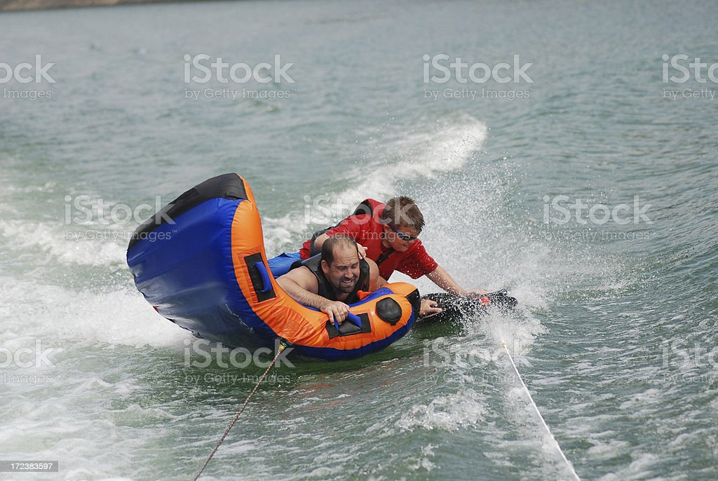 Switching Spots on the Kneeboard stock photo