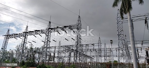 Switchyard for high tension lines