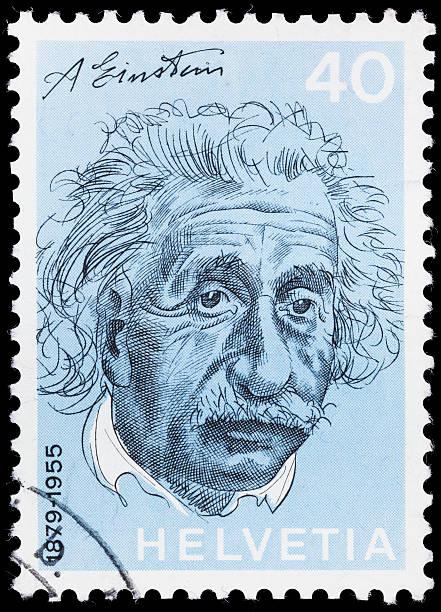 albert einstein briefmarke schweiz - berühmte physiker stock-fotos und bilder