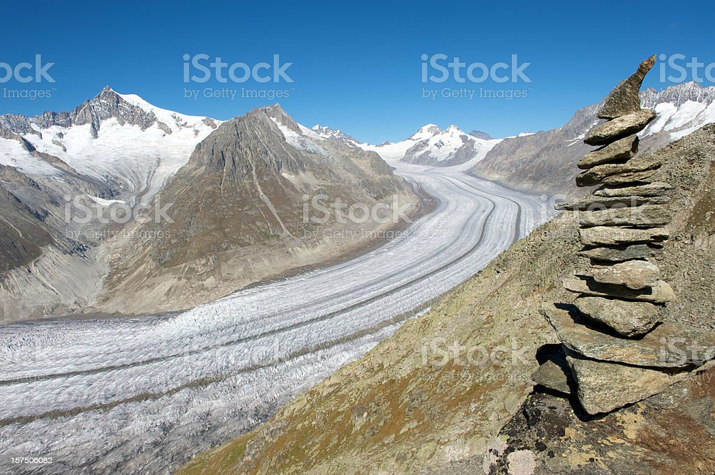 Switzerland, Aletsch Glacier royalty-free stock photo