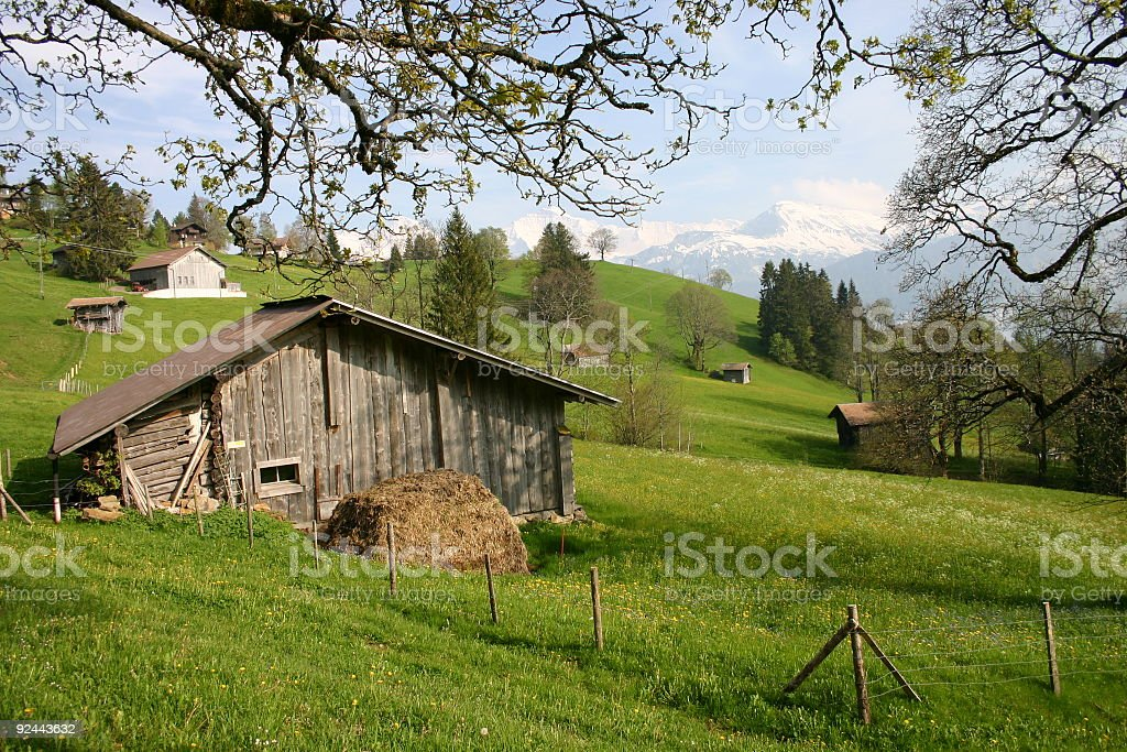 Switzerland alps in Interlaken royalty-free stock photo