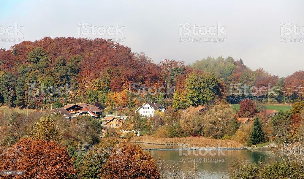 switzerland - autumn in oberlan bernois stock photo