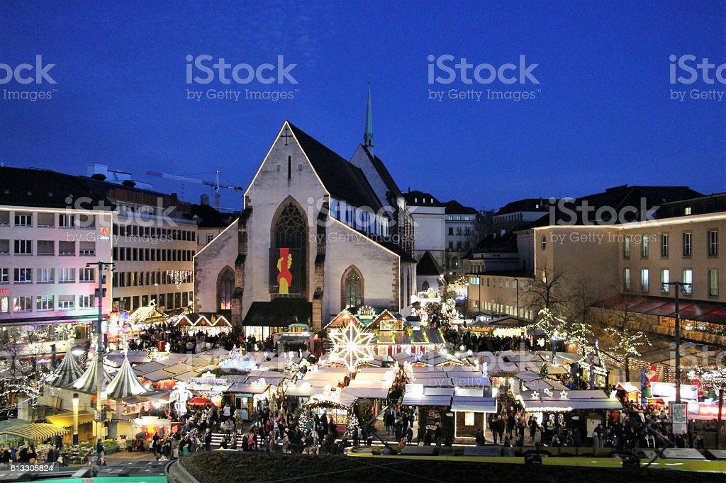 Basel Christmas Market.Switzerland Basel Christmas Market Stock Photo Download