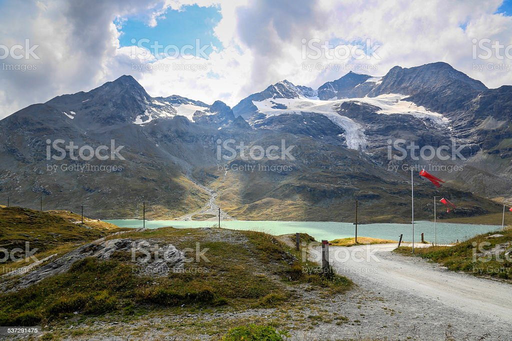 Switzerland - Bernina Pass stock photo