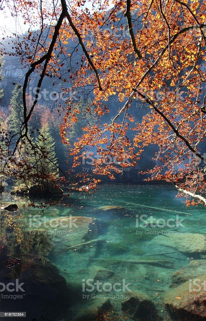 switzerland - blausee stock photo