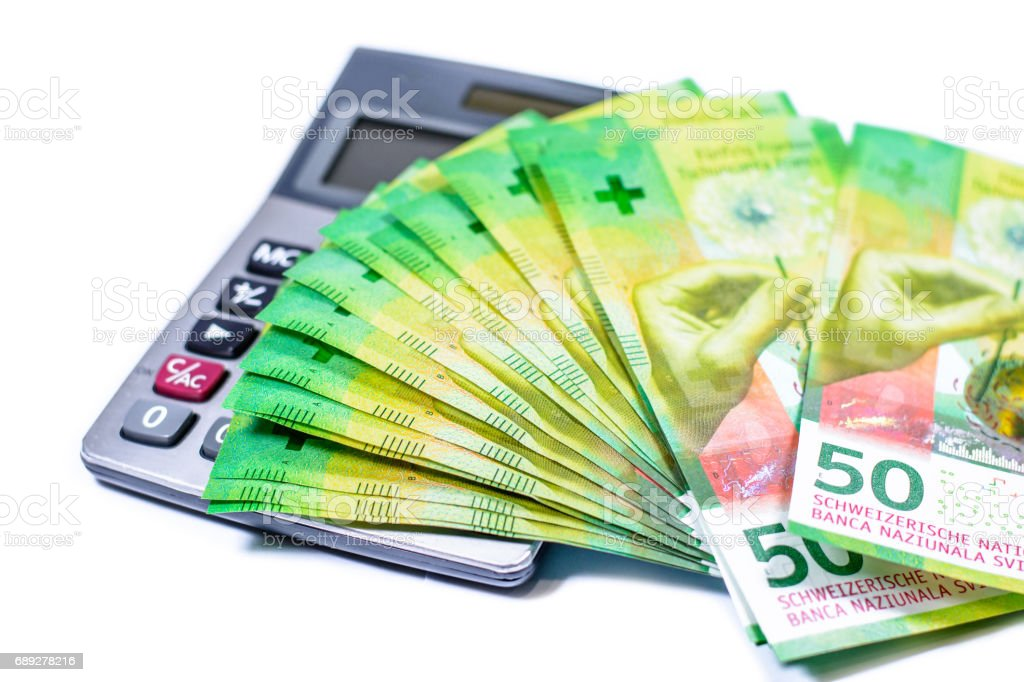 Switzerland Currency stock photo