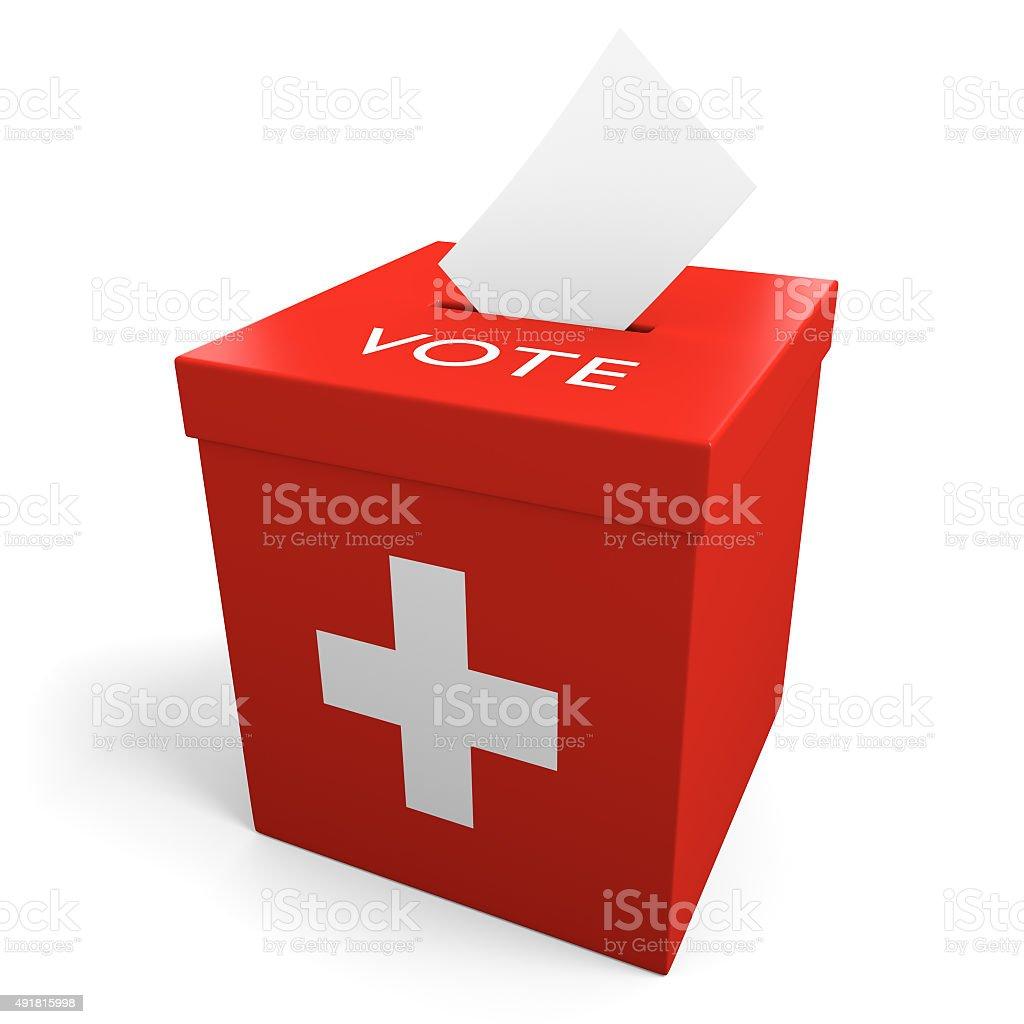 Schweiz Wahl Wahlurne für die Erfassung stimmen – Foto