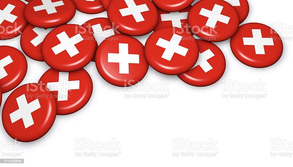 Schweiz Flagge Abzeichen – Foto