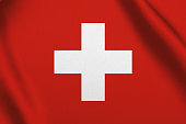 Switzerland flag waving background
