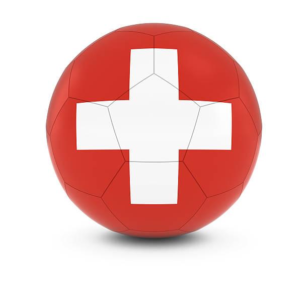 Cтоковое фото Швейцария футбол-Swiss Флаг на футбольном мяче