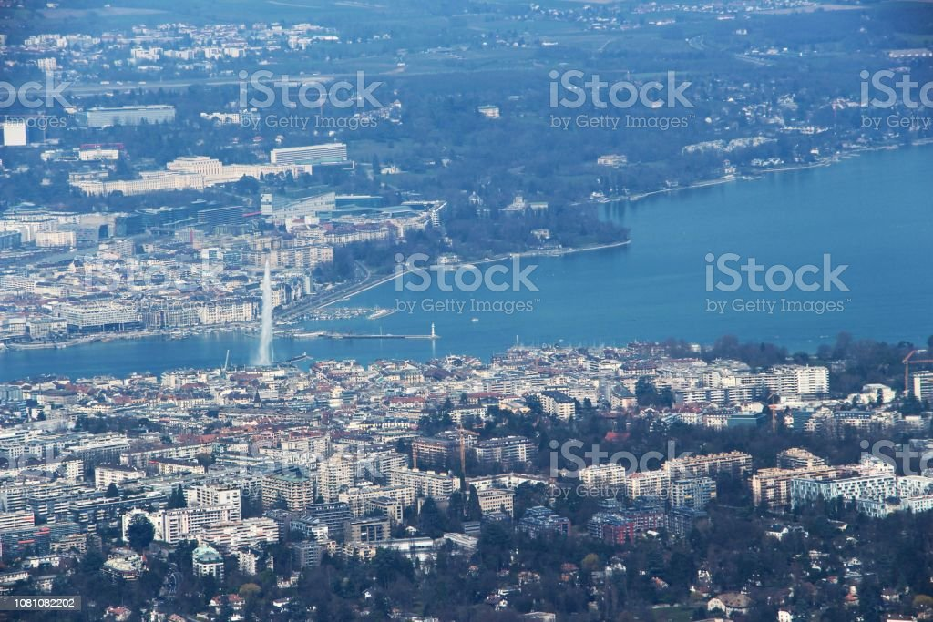 suisse - Genève - panorama from Saleve mount stock photo