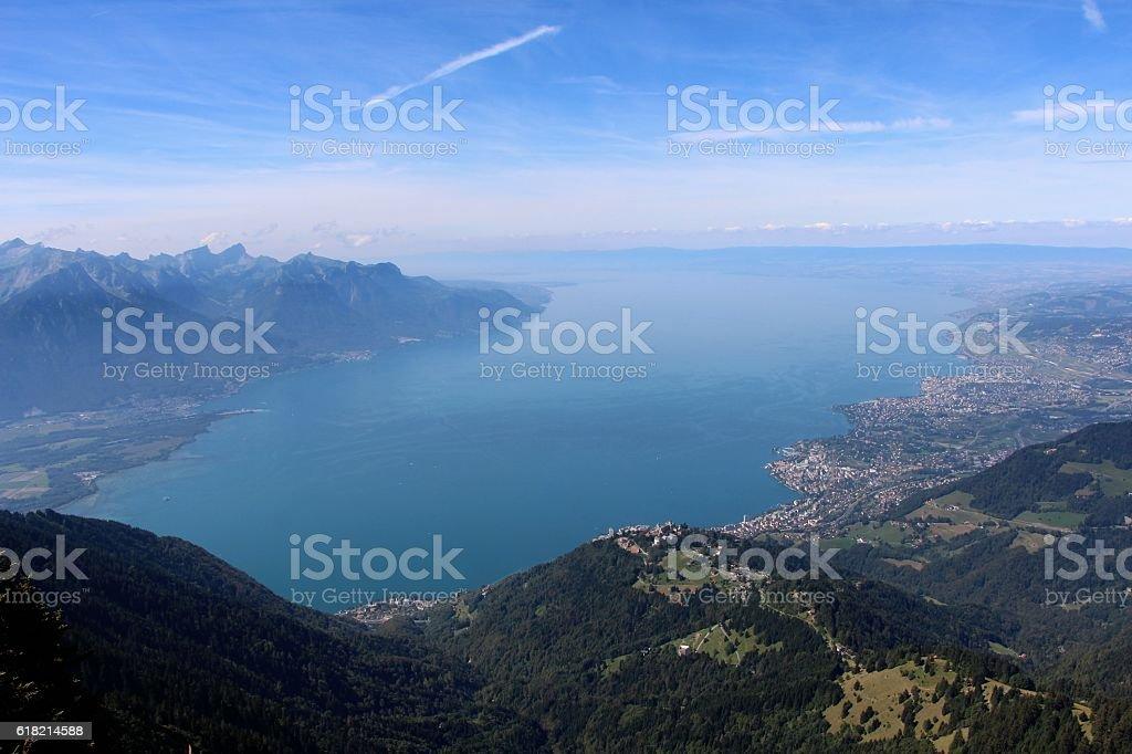 switzerland . lac léman ( montreux) stock photo
