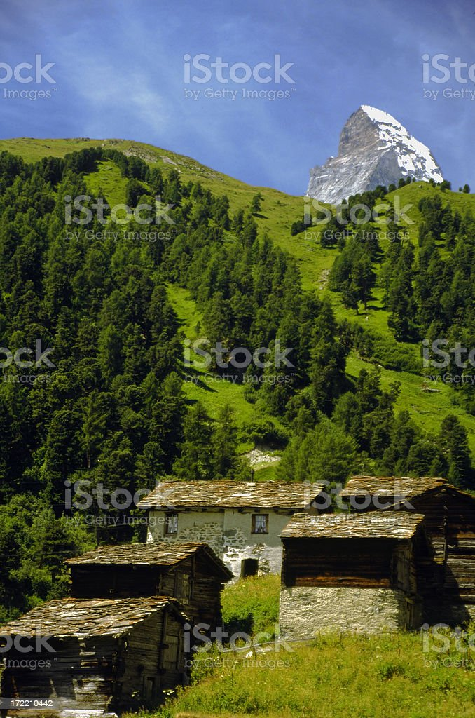 Switzerland: Matterhorn with Local-Color Foreground royalty-free stock photo