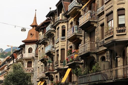 switzerland - montreux, old town