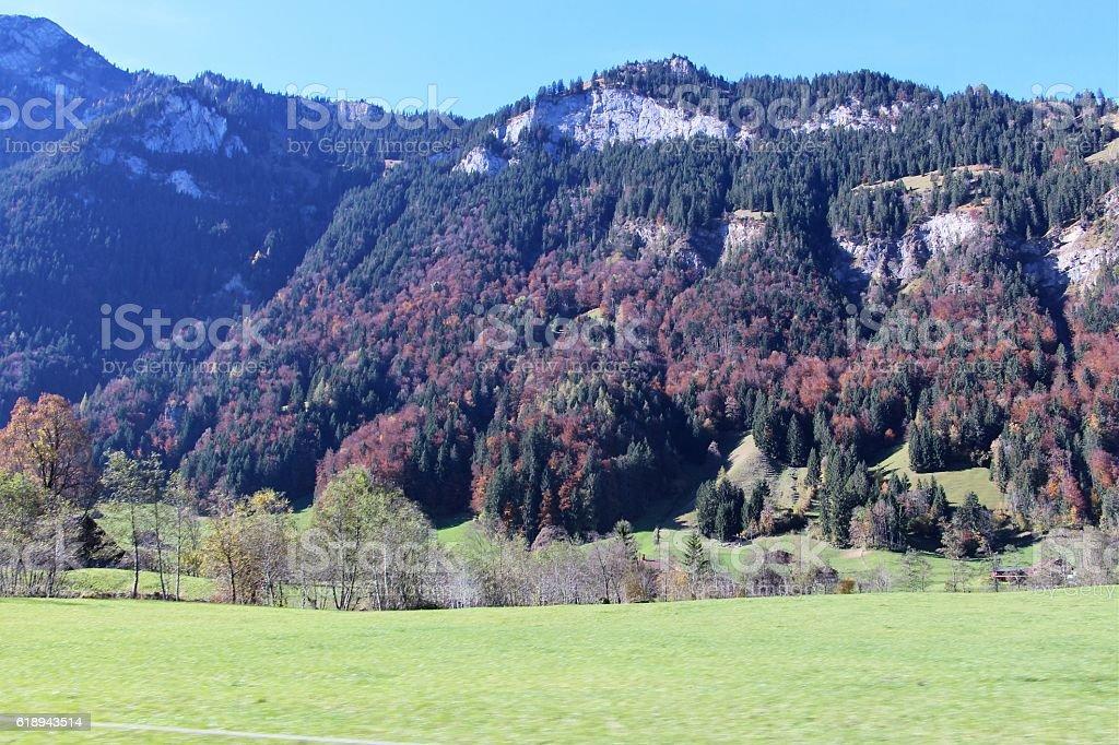 switzerland - oberland bernois, paysage stock photo