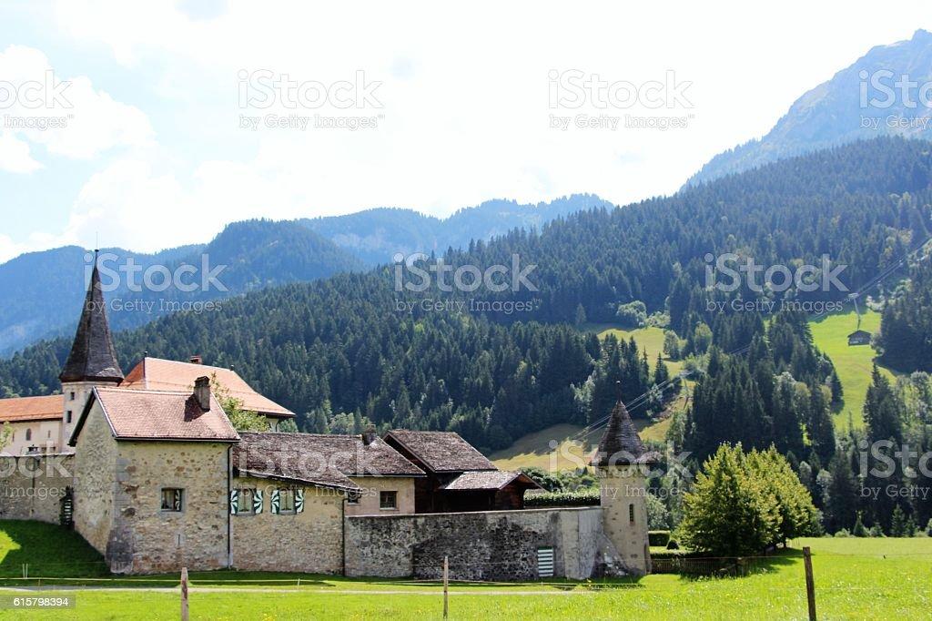 switzerland - parc naturel regional gruyère pays d'en haut stock photo