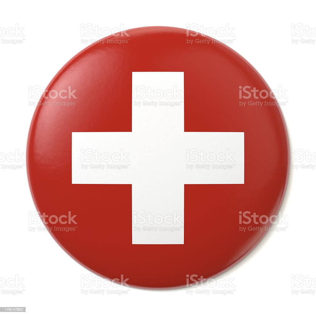 Switzerland Pin-back stock photo