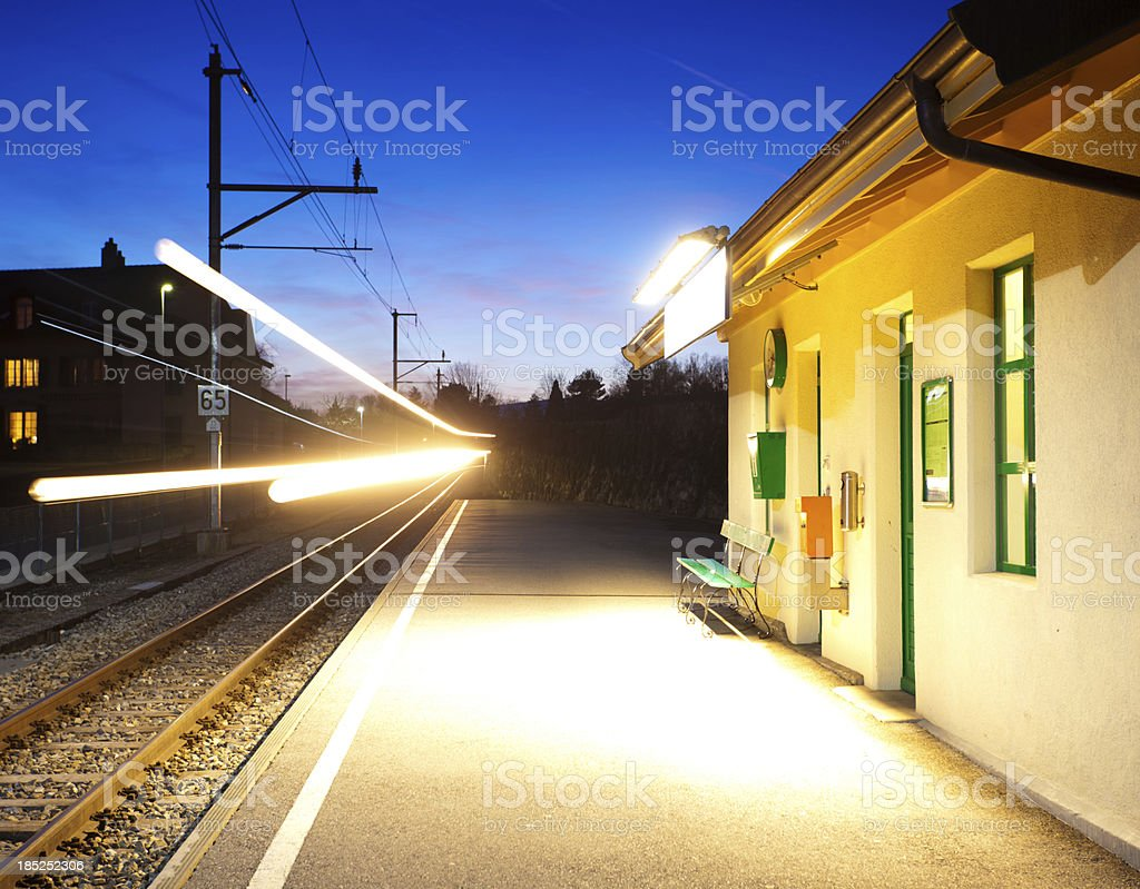 Switzerland railway station stock photo