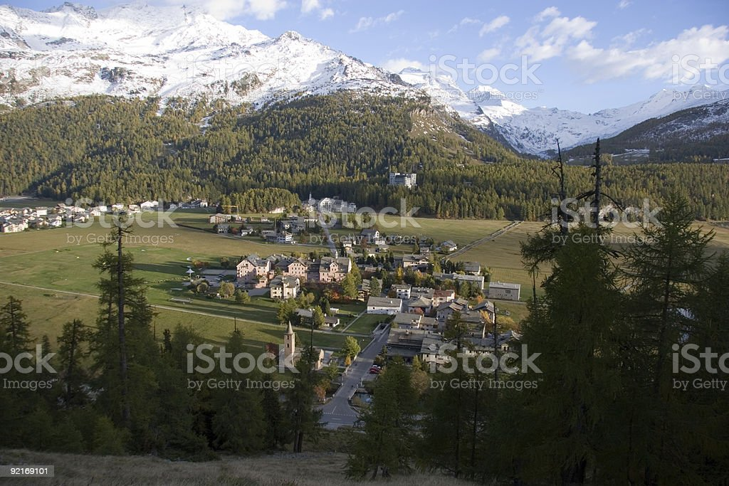 Switzerland - Sils Baselgia stock photo
