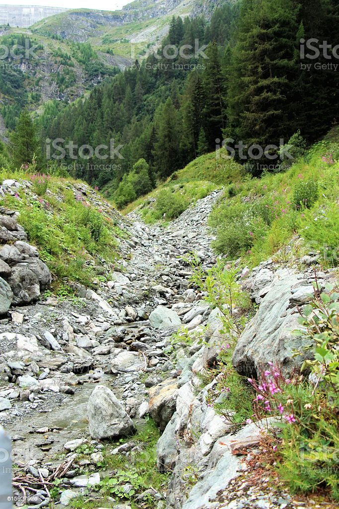 switzerland - val d'herens, paysage stock photo
