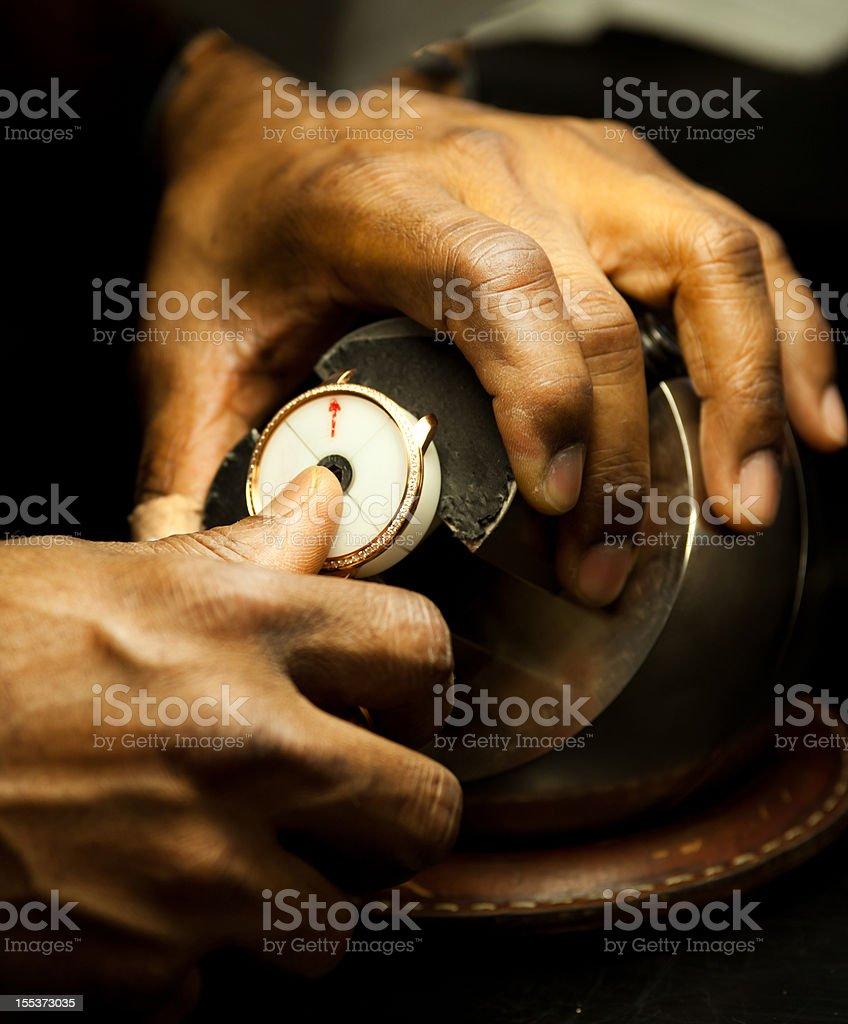 Switzerland watch making stock photo