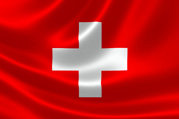 Switzerland's Flag stock photo