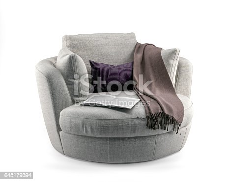 Digitally generated swivel chair isolated on white background.