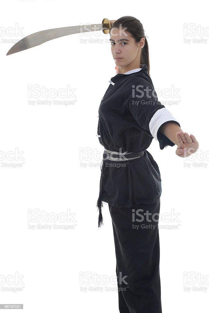 Sword dance royalty-free stock photo