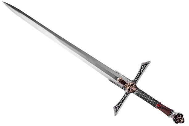 由對角線處置的劍。 - sword 個照片及圖片檔