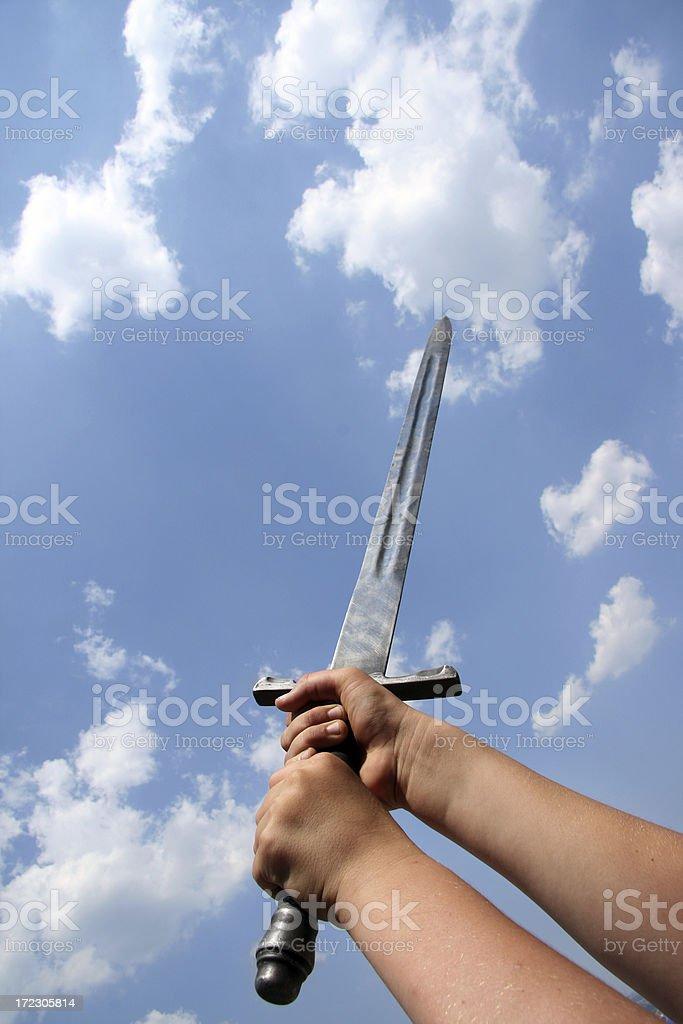 Sword in sky royalty-free stock photo