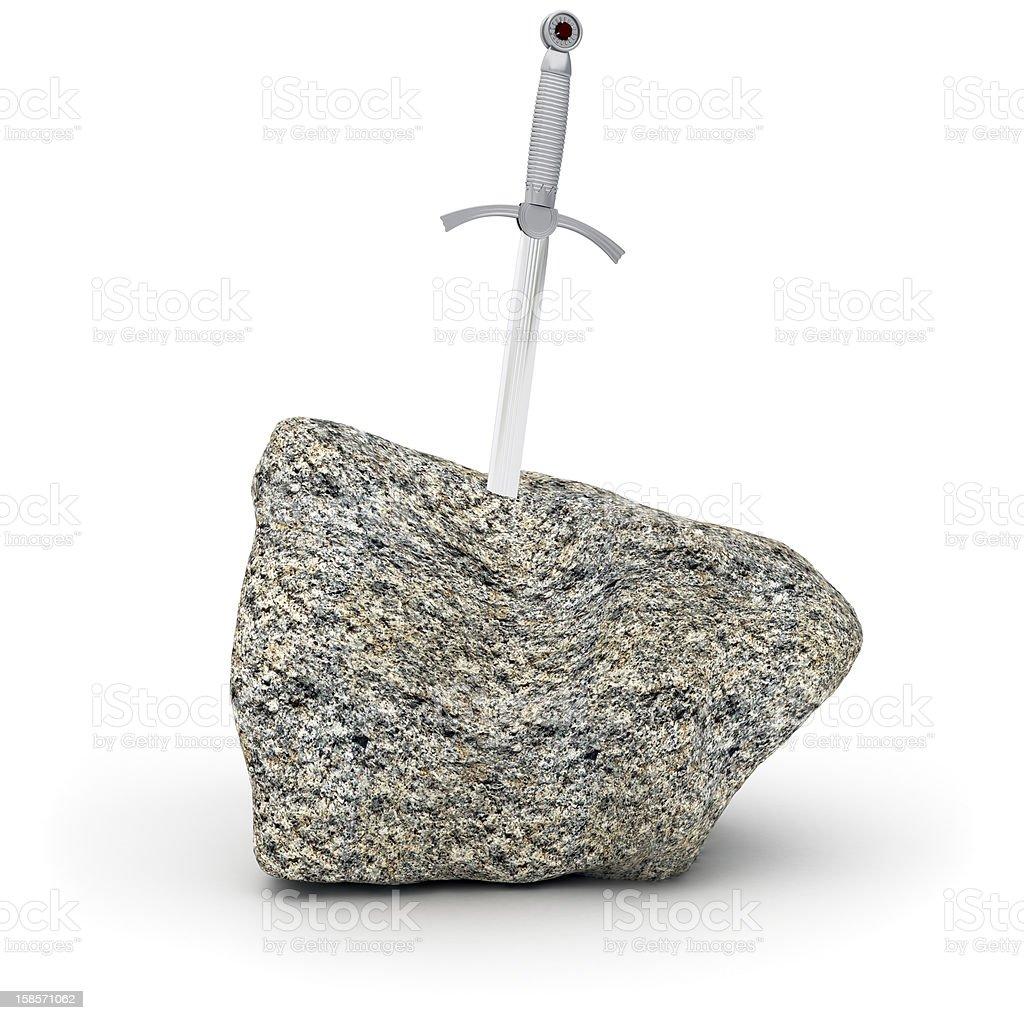 Sword in Stone stock photo