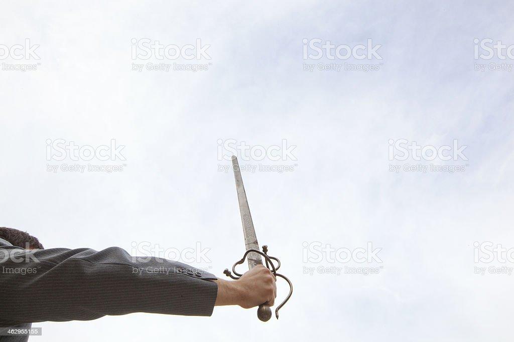 Sword in the Sky stock photo