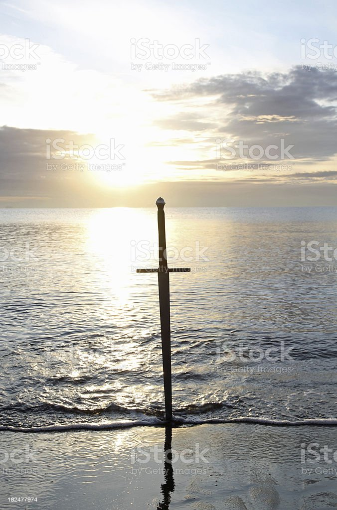 Sword on the Shore royalty-free stock photo