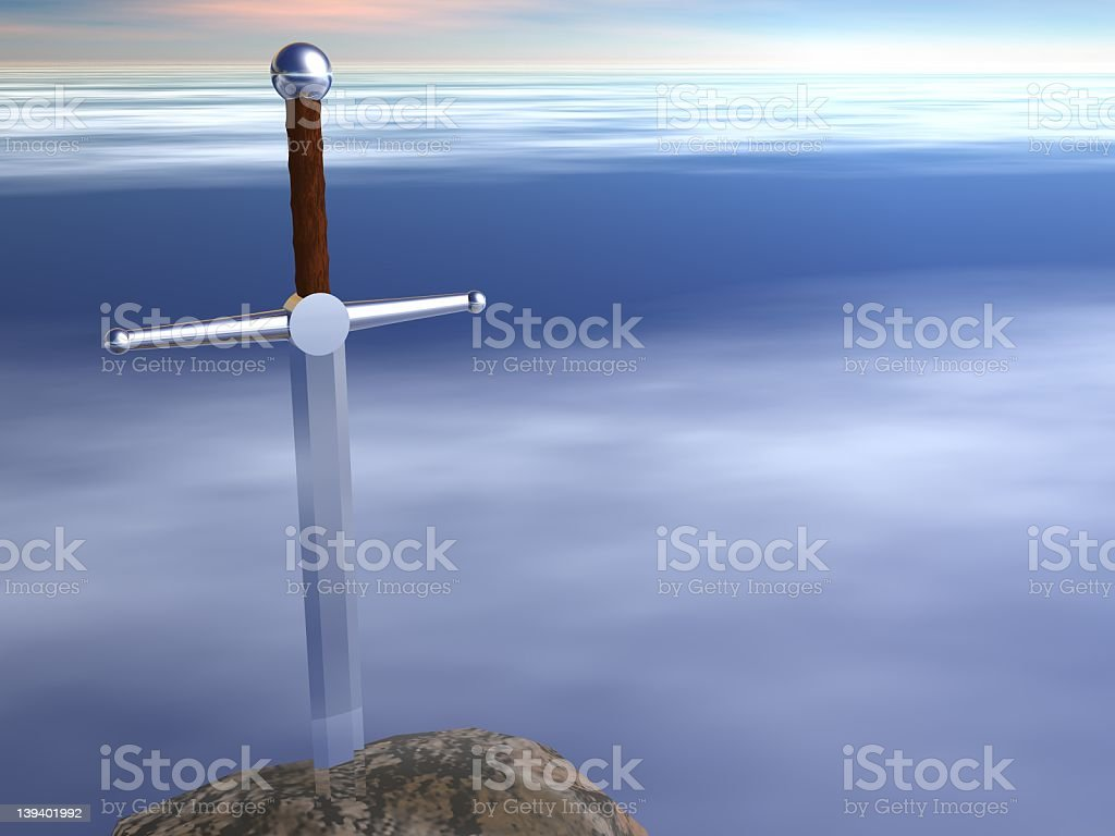 Sword Stuck In A Stone Stock Photo Download Image Now Istock