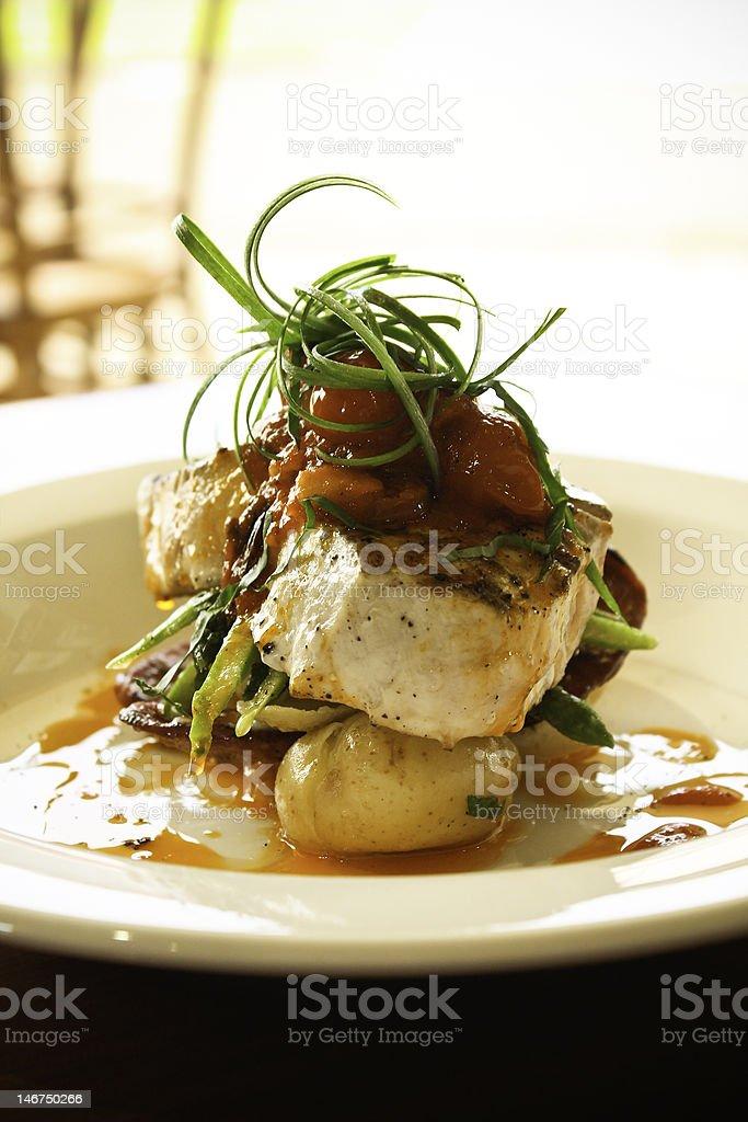 Swordfish Dish royalty-free stock photo