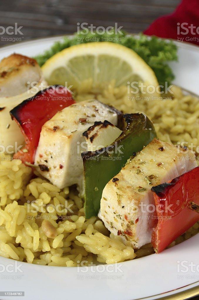 Pez espada Kebab foto de stock libre de derechos