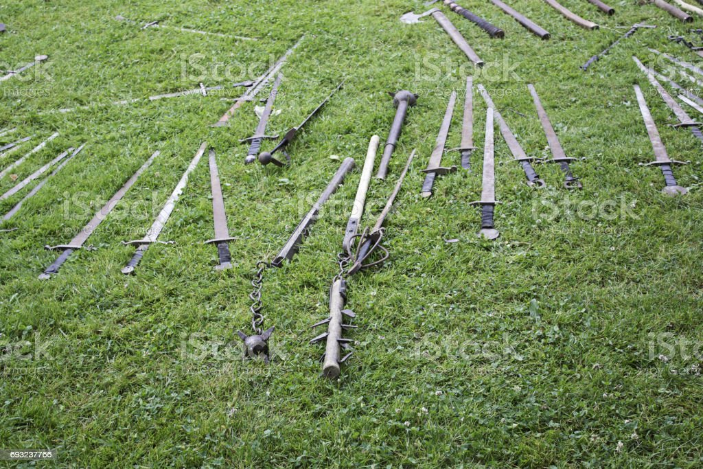 Swords and Medieval Weapons stock photo