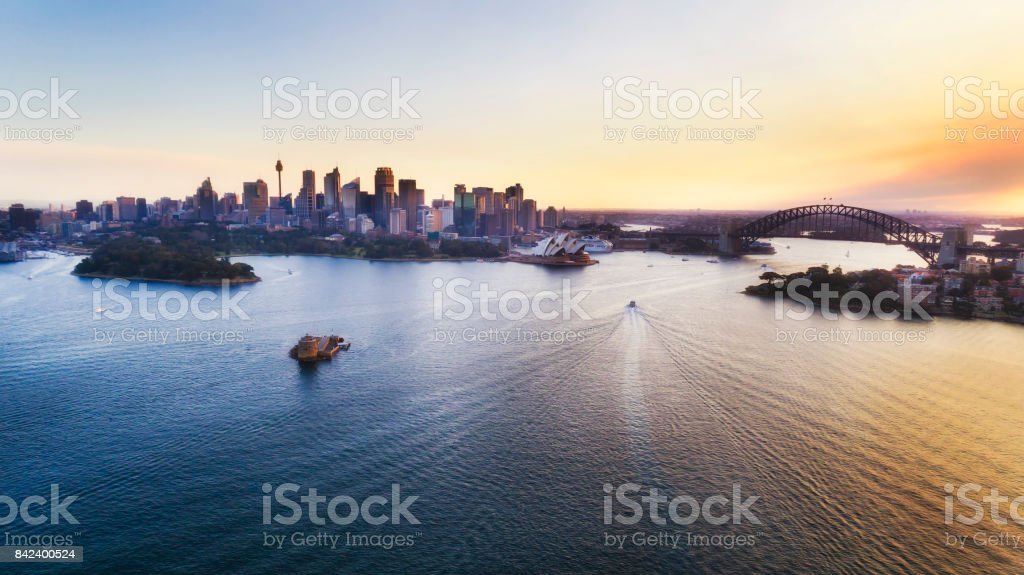 DJI Sy CBD Cremorne Pre Set stock photo