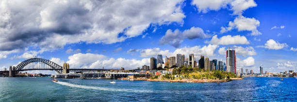 sy harb the rocks day pan - barangaroo stock photos and pictures